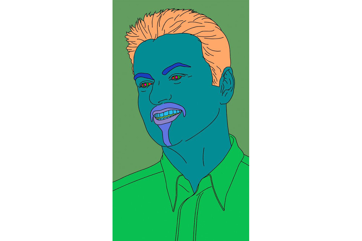 Michael Craig-Martin - Commissioned Portrait Untitled (George), 2007