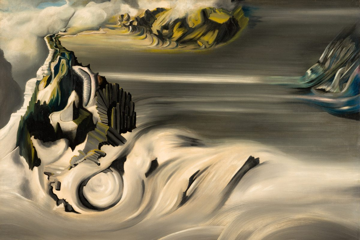 Oscar Dominguez - Paysage cosmique, 1938-1939, Oil on canvas, 73.2 x 92 cm