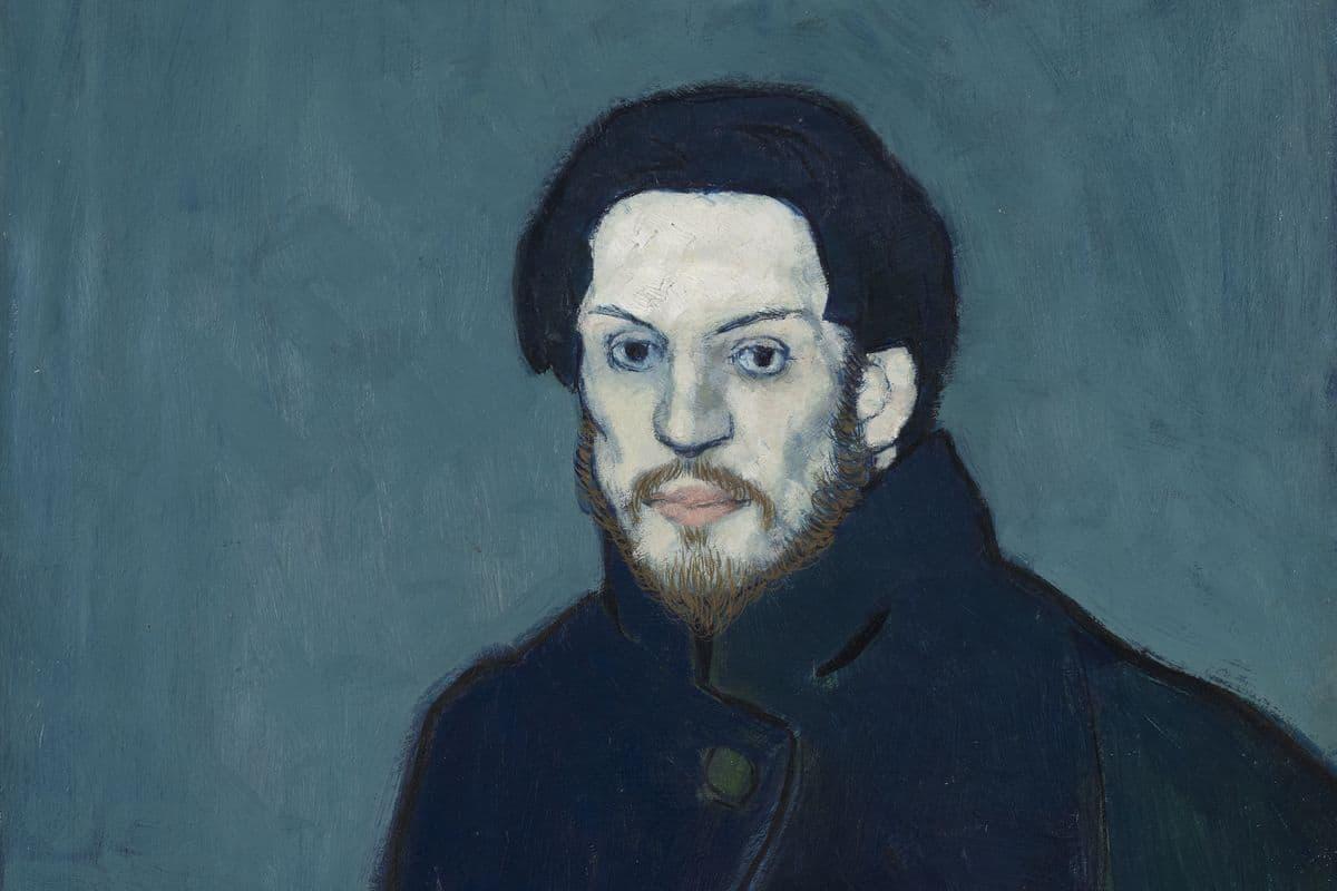 Pablo Picasso - Autoportrait, 1901 (detail)