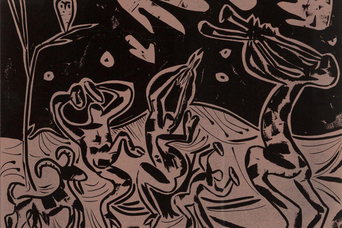 Pablo Picasso - Les Danseurs au Hibou (detail), 1959