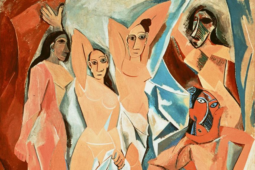 Pablo Picasso - Les Demoiselles d'Avignon, 1907 (detail) - Image via wikimediaorg