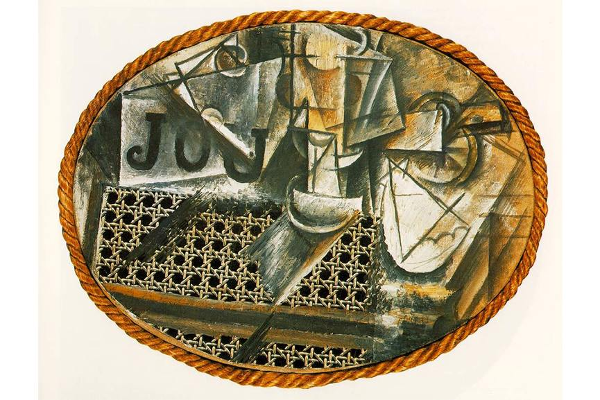 Pablo Picasso - Still Life with Chair Caning, 1912 - Image via pinterestcom