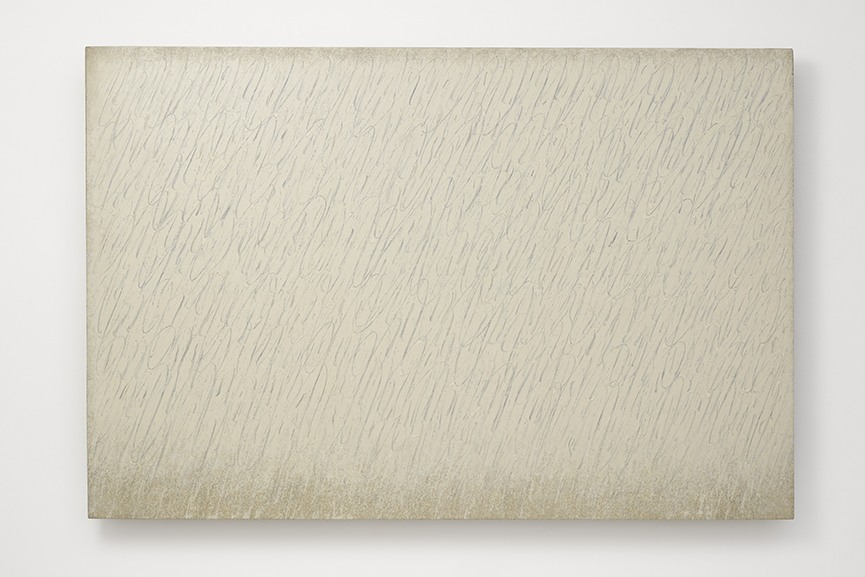 Park Seo-Bo - Ecriture (描法) No. 6-67, 1967. Pencil and oil on canvas. 25 1-2 x 25 1-2 in. (64.8 x 64.8 cm) © the artist. Photo © White Cube (Ben Westoby)