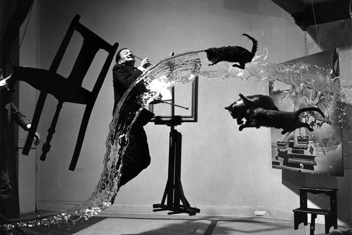 Philippe Halsman - Dali Atomicus, 1948, via photographyoffice.com