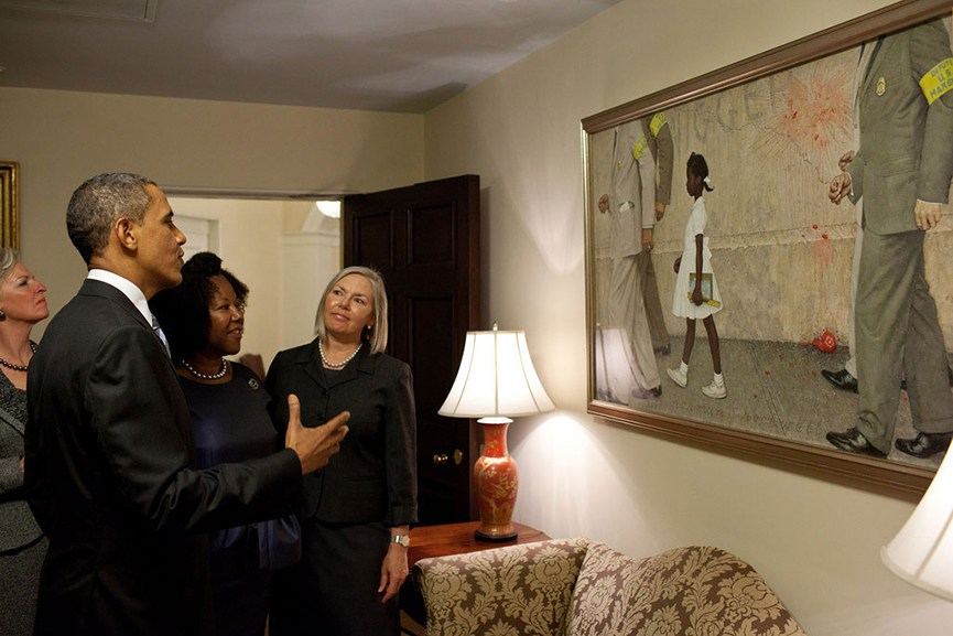 President Obama Meets With Norman Rockwell Museum Staff at White House