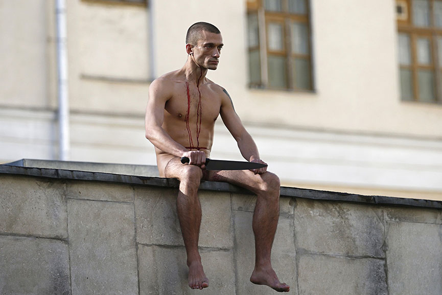 Pyotr Pavlensky. Photo by Maxim Zmeyev for Reuters