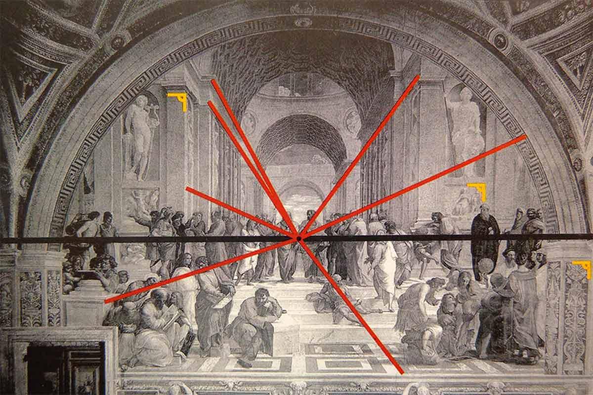 Raphael---School-of-Athens---Two-point-analysis.-Image-via-pinterest.com