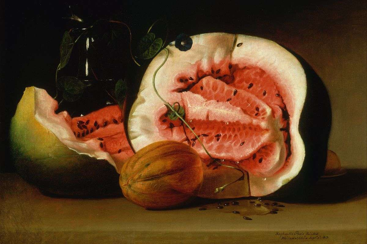 Raphaelle Peale - Melons and Morning Glories, 1813