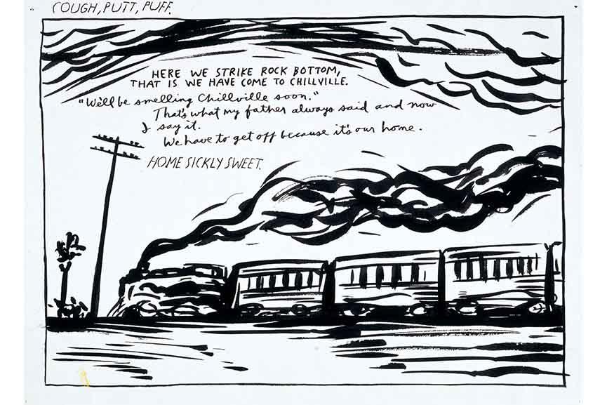 Raymond Pettibon - No title, 1986, Pen and ink on paper