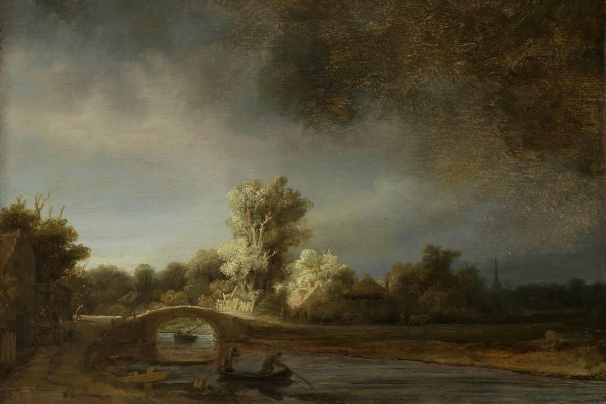 Rembrandt van Rijn - Landscape with a Stone Bridge