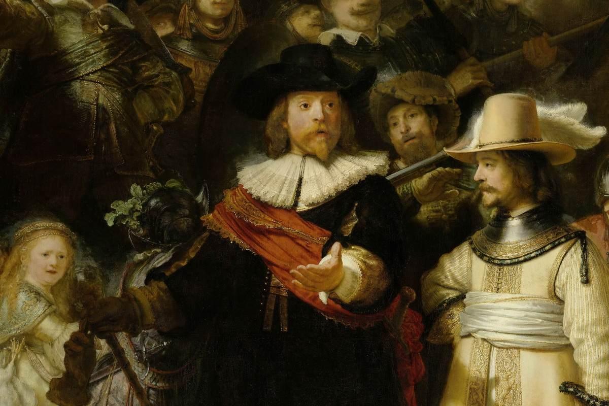 Rembrandt van Rijn -The Nightwatch, detail
