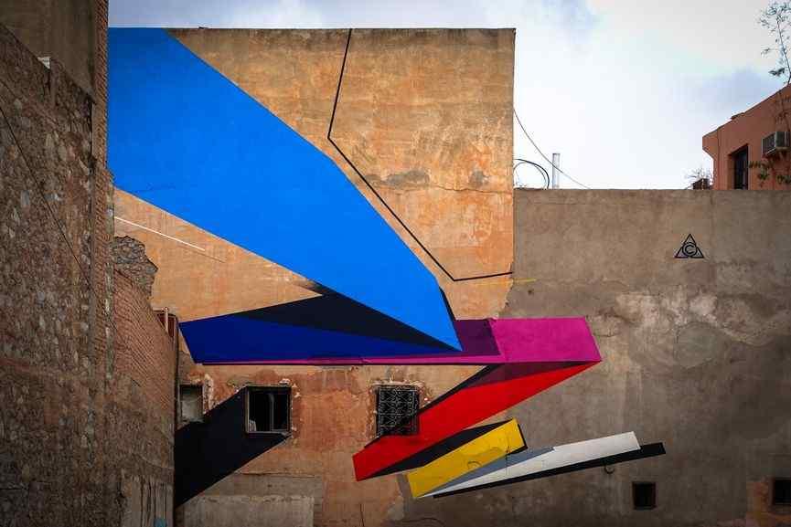 Remi Rough - MB6 street art festival, Marrakesh, 2016