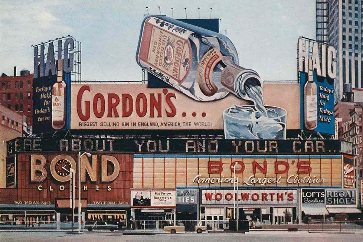 Richard Estes - Gordon's Gin, 1968, via thedelightofseeing.blogspot com