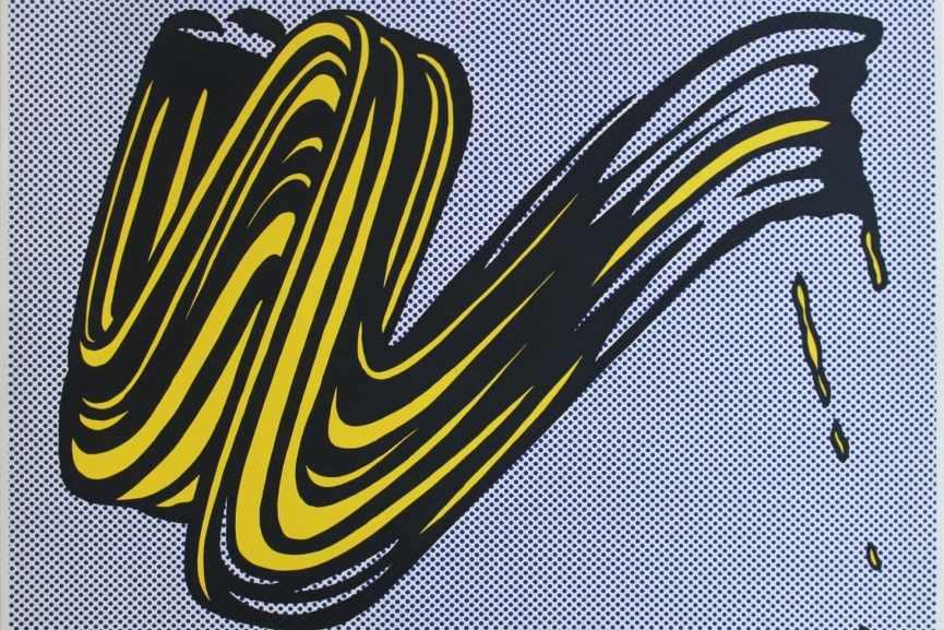 Roy Lichtenstein -  Brushstroke Corlett II 5, 1965, detail