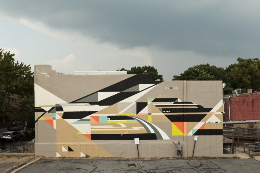 Rubin415, Heineken Mural Project, Washington DC, 2013
