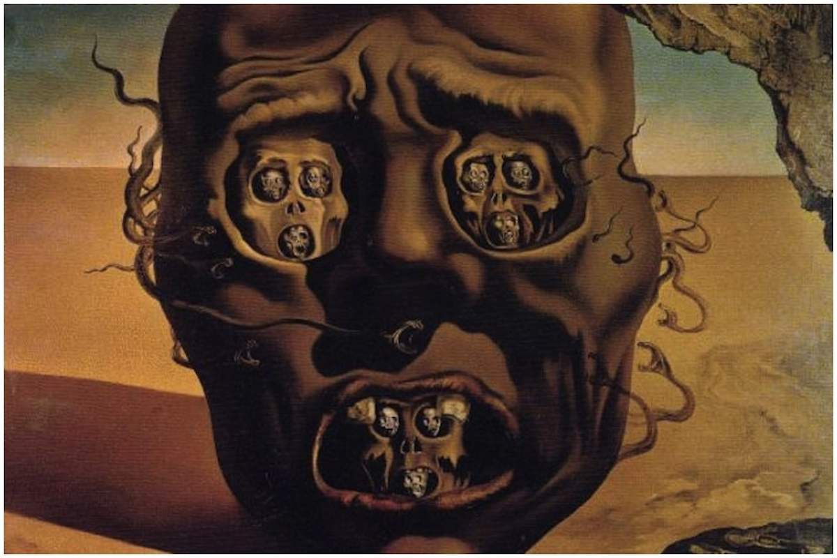 Salvador Dali - The Face of War,1940, detail