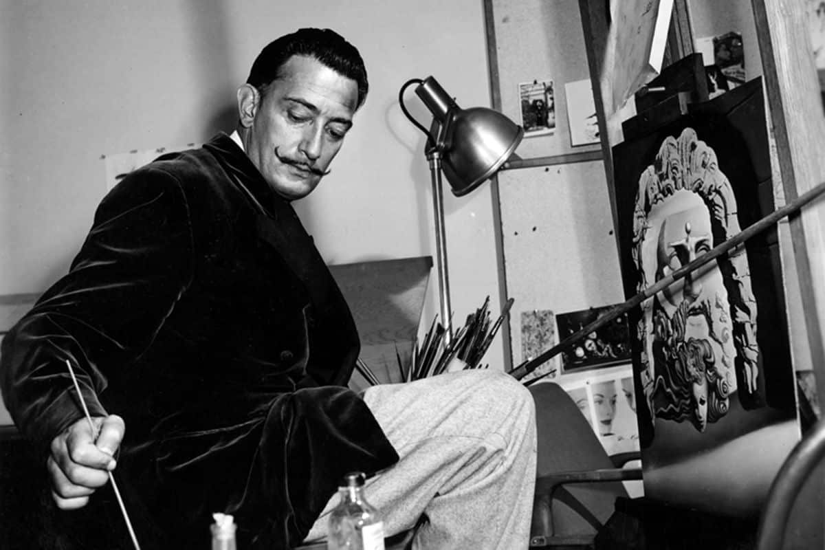 Salvador Dali working, via juliaworld.net