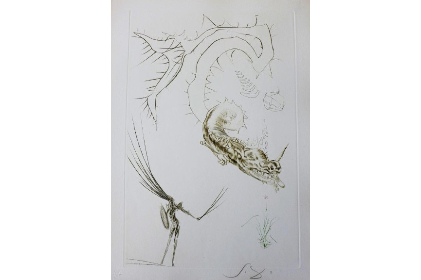 Salvador Dali - Tristan and The Dragon