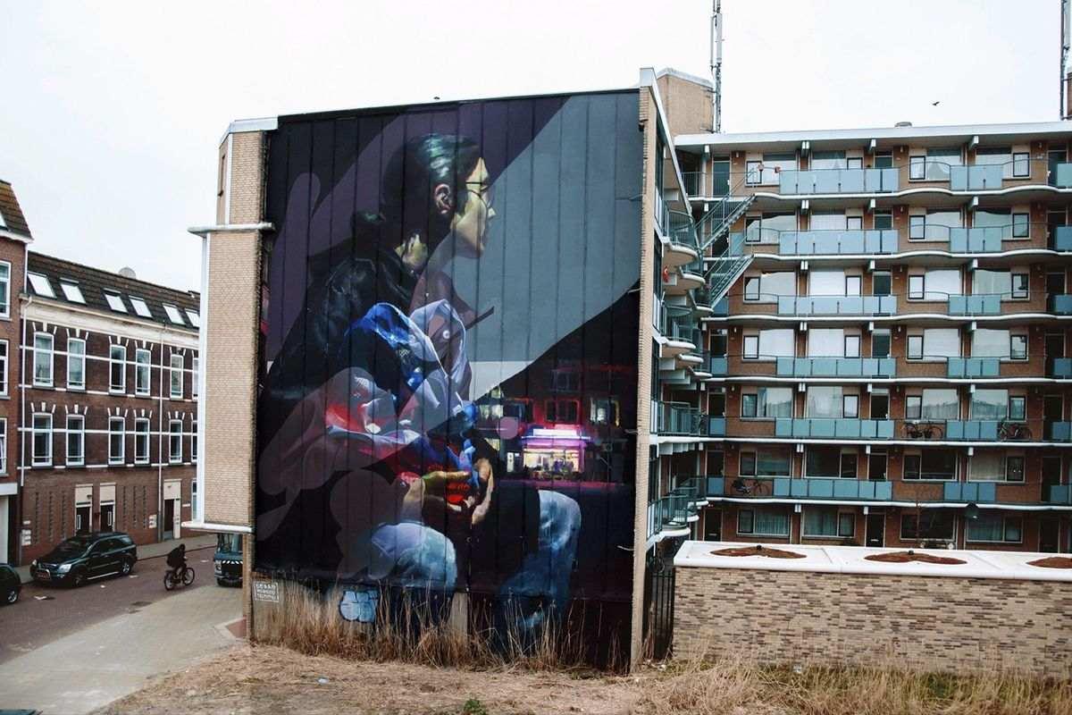 Sebas Velasco and Telmo Miel in Rotterdam, via streetartnews com