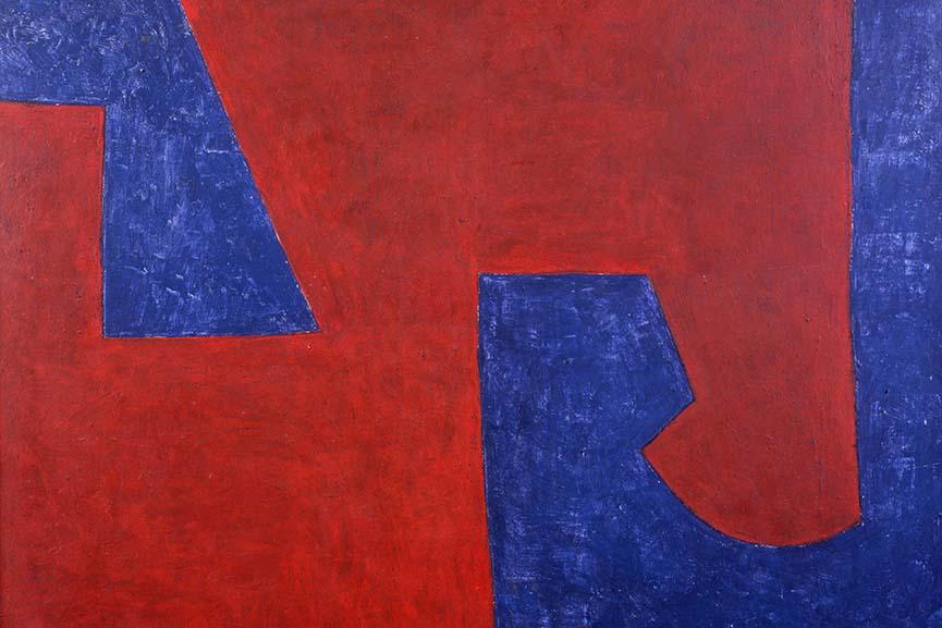 Serge Poliakoff - Bleu Roufe, 1951, detail