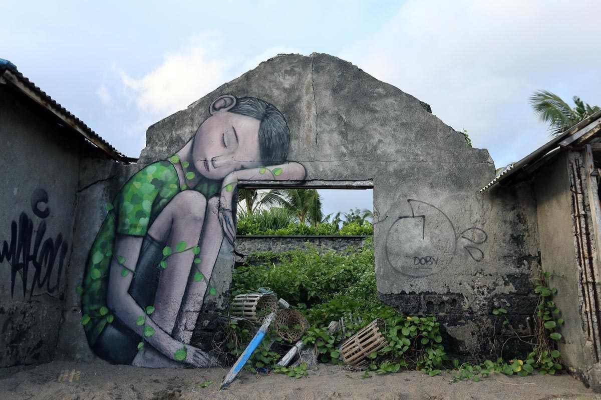 Seth in Canggu Bali via streetartnew