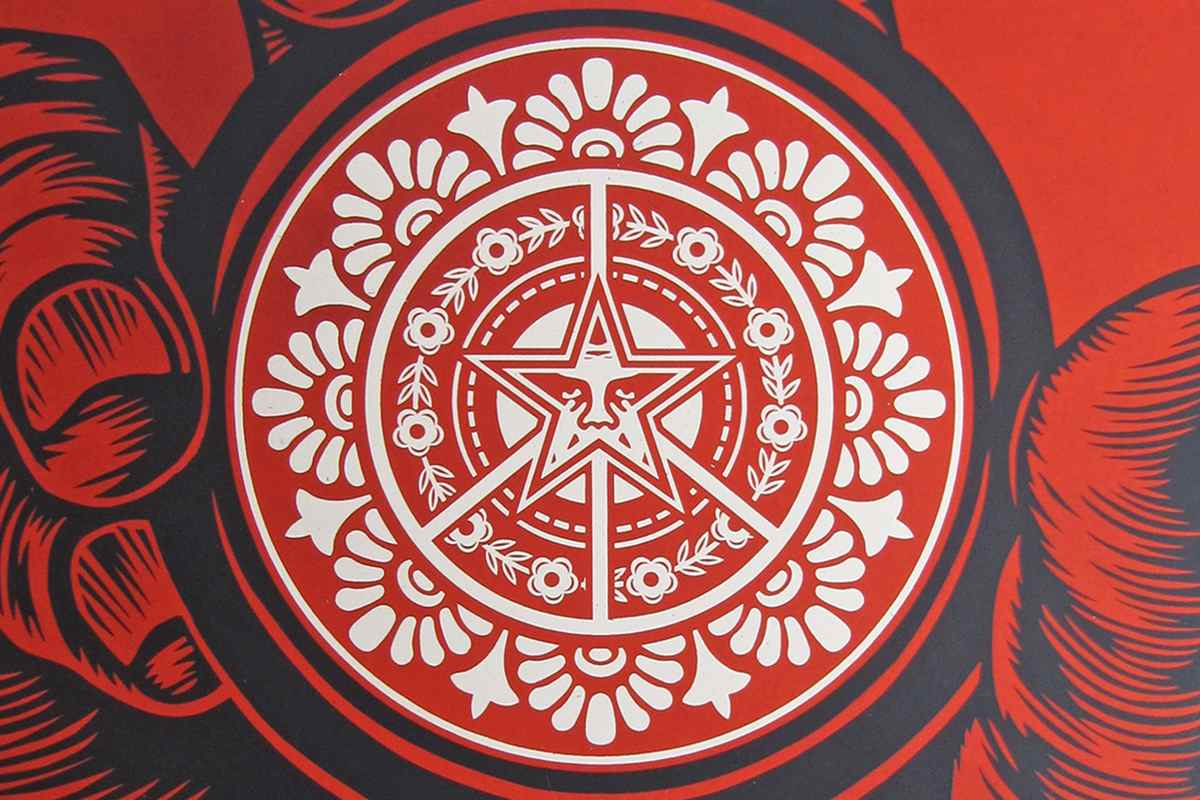 Shepard Fairey - High Time for Peace poster, detail