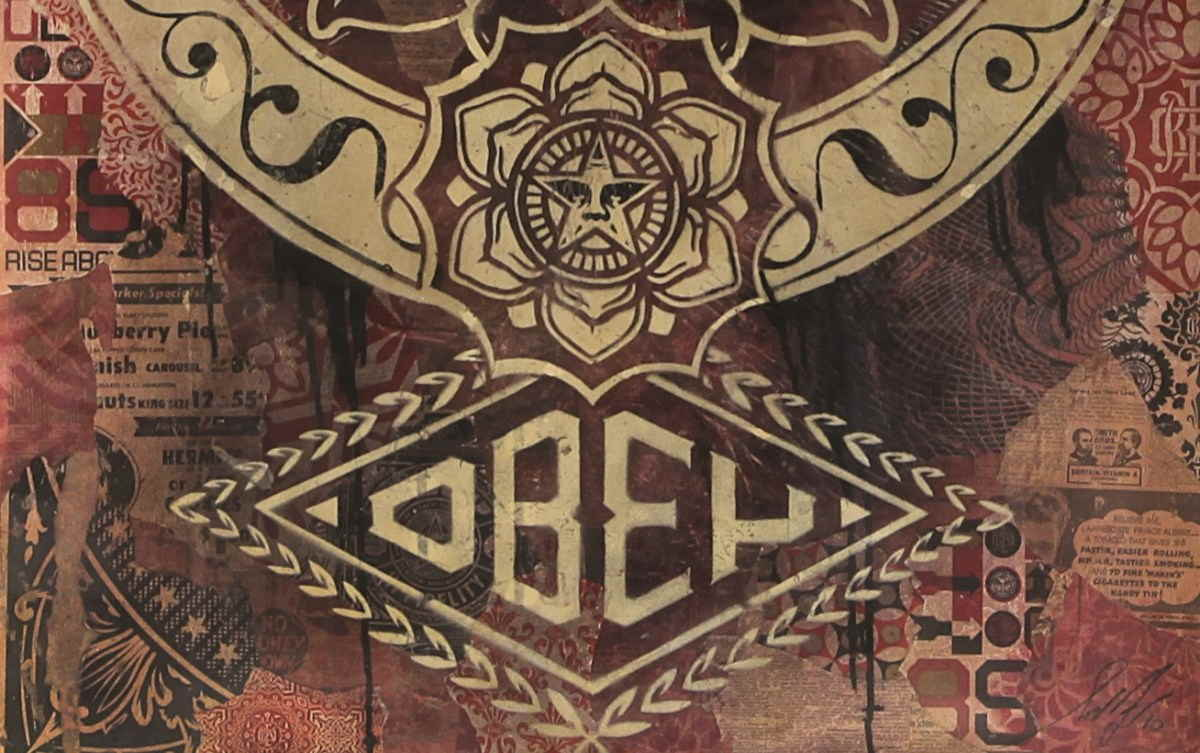 Shepard Fairey - Peace Lotus, 2008 - detail