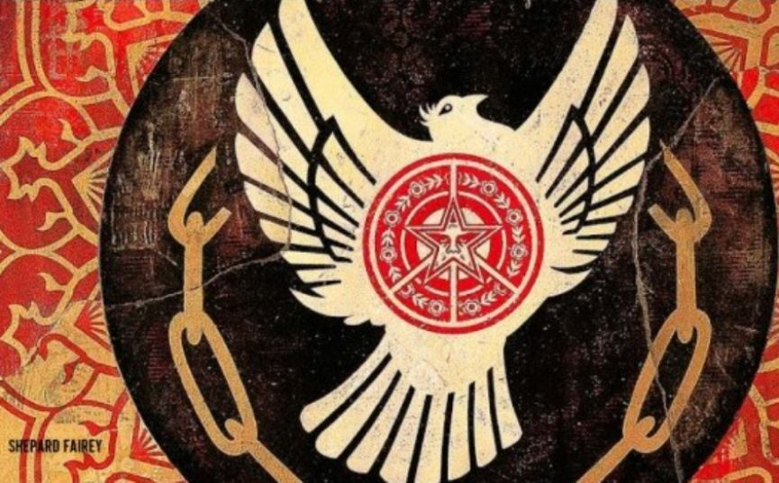 Shepard Fairey - Peace and Freedom Dove (detail)