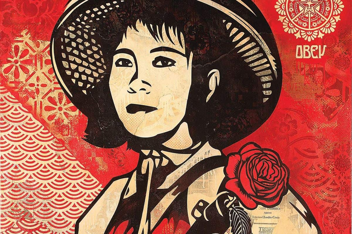 Shepard Fairey - Revolution Woman, 2005 (detail)