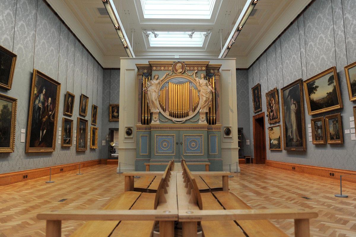 Sir Watkin Williams Wynn chamber organ at National Museum Cardiff, 1774, (c) National Museum Wales
