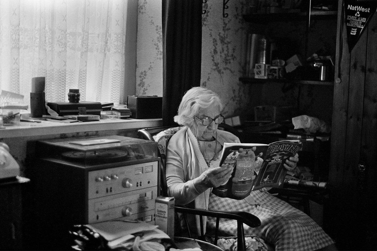 Skin Phillips - Grandma Thrasher, 1984. Swansea