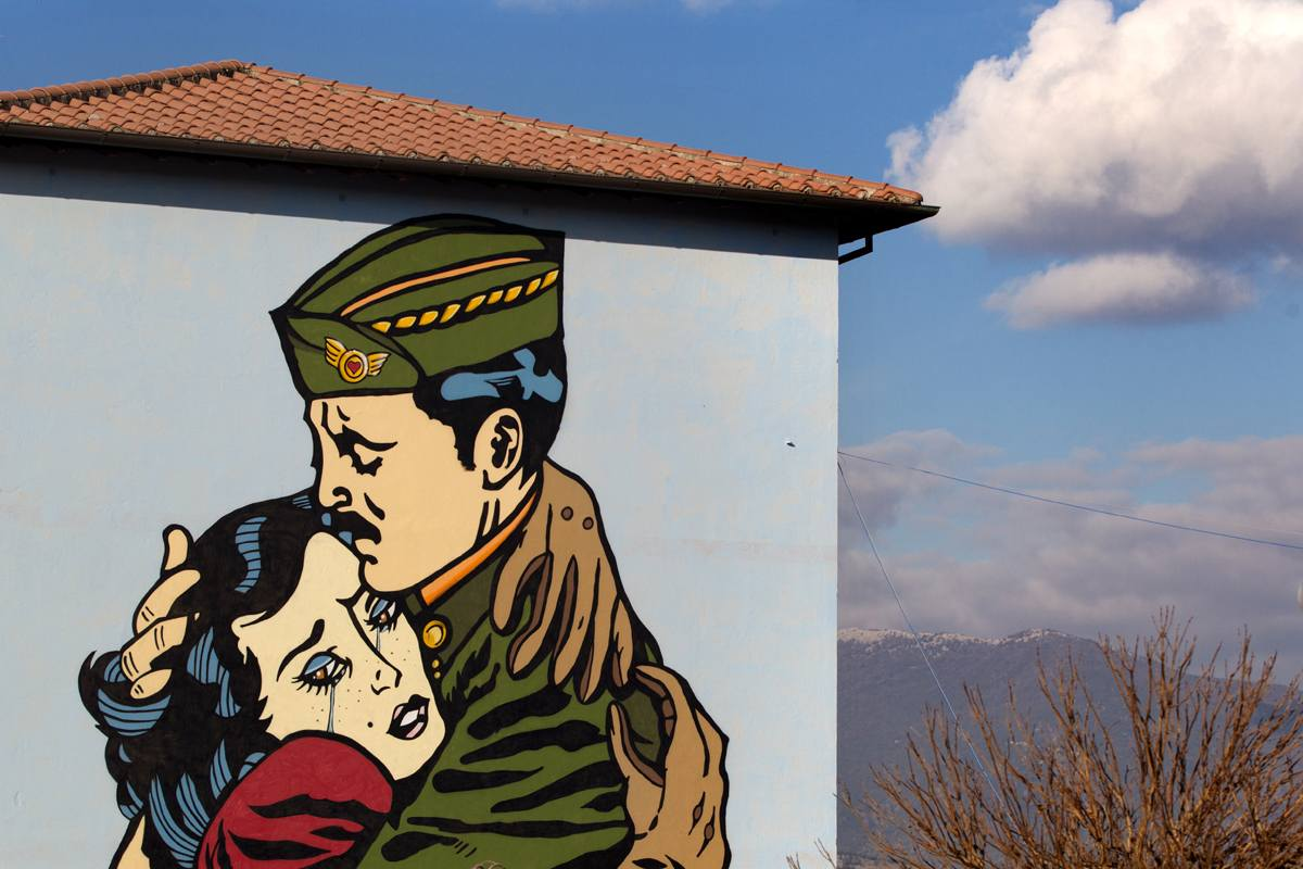 """""""The people never win during war"""" by Solo in Selci, Italy"""