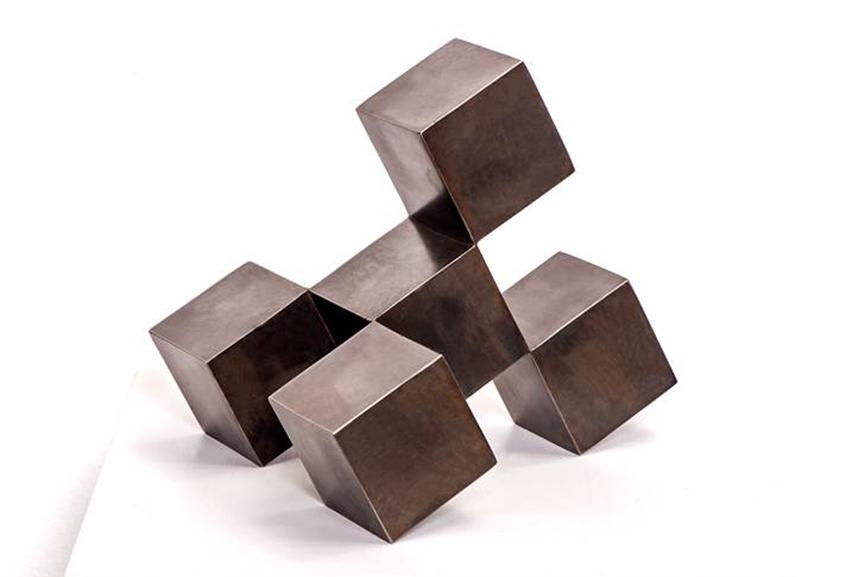 Stephan Siebers - CubeCube, 2010. Steel Patiniert COVER