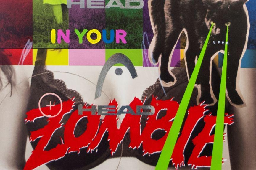 Stuart Semple  - Zombie Head, detail ( care of the artist, Stuart Semple)