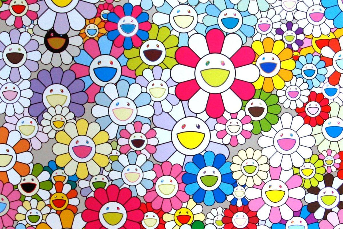 Takashi Murakami - An Homage to Yves Klein Multicolor, G (detail), 2013
