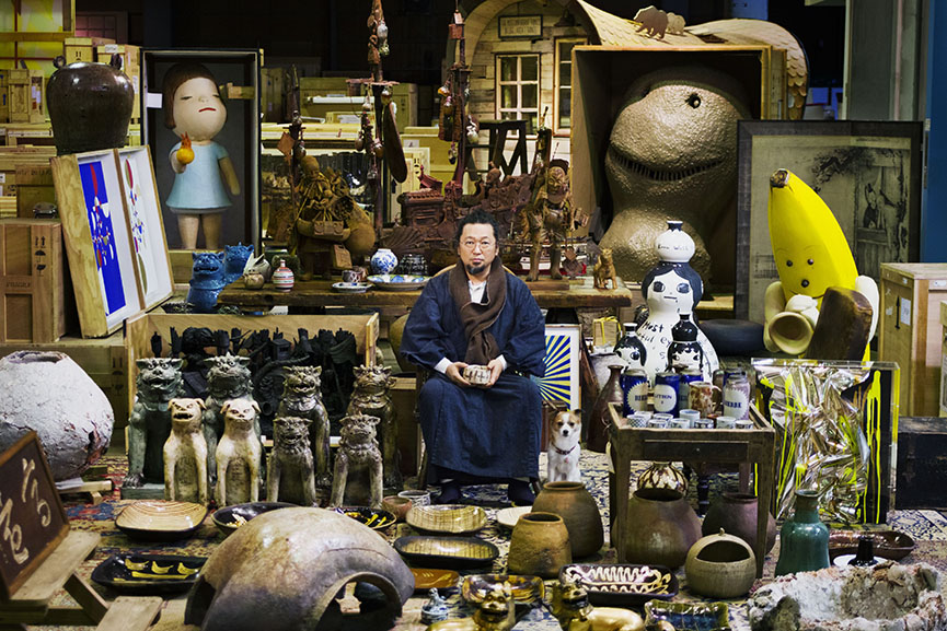 Takashi Murakami and his Superflat Collection. Photo by Kentaro Hirao