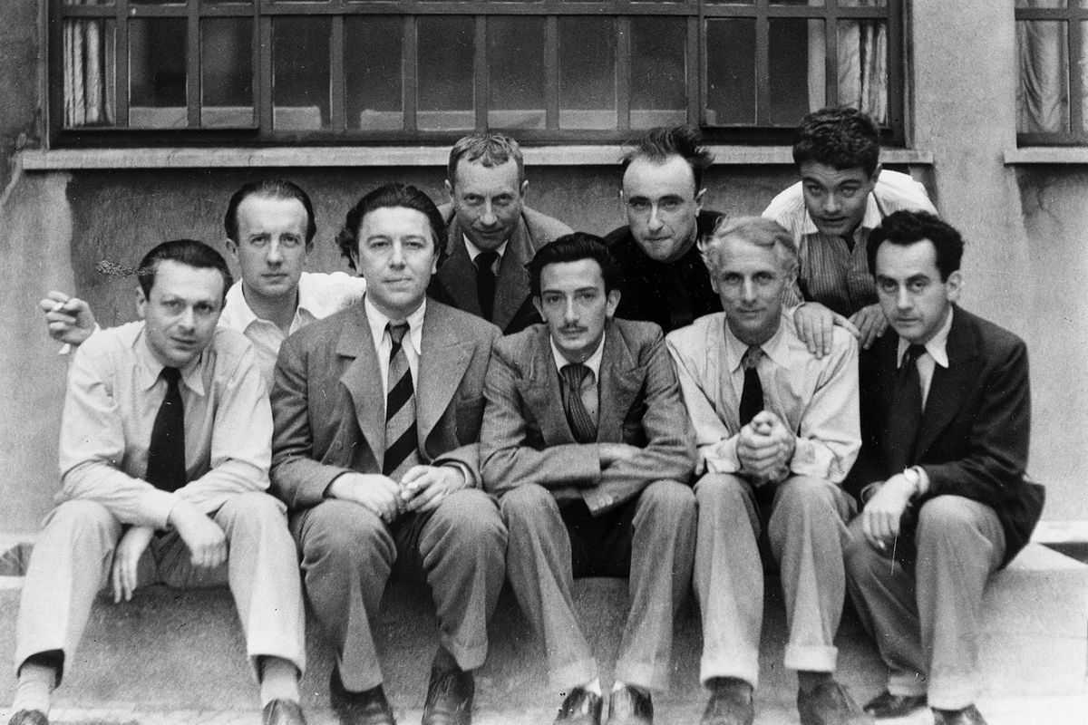 The Paris Surrealists, 1933, via Rusty's Artists