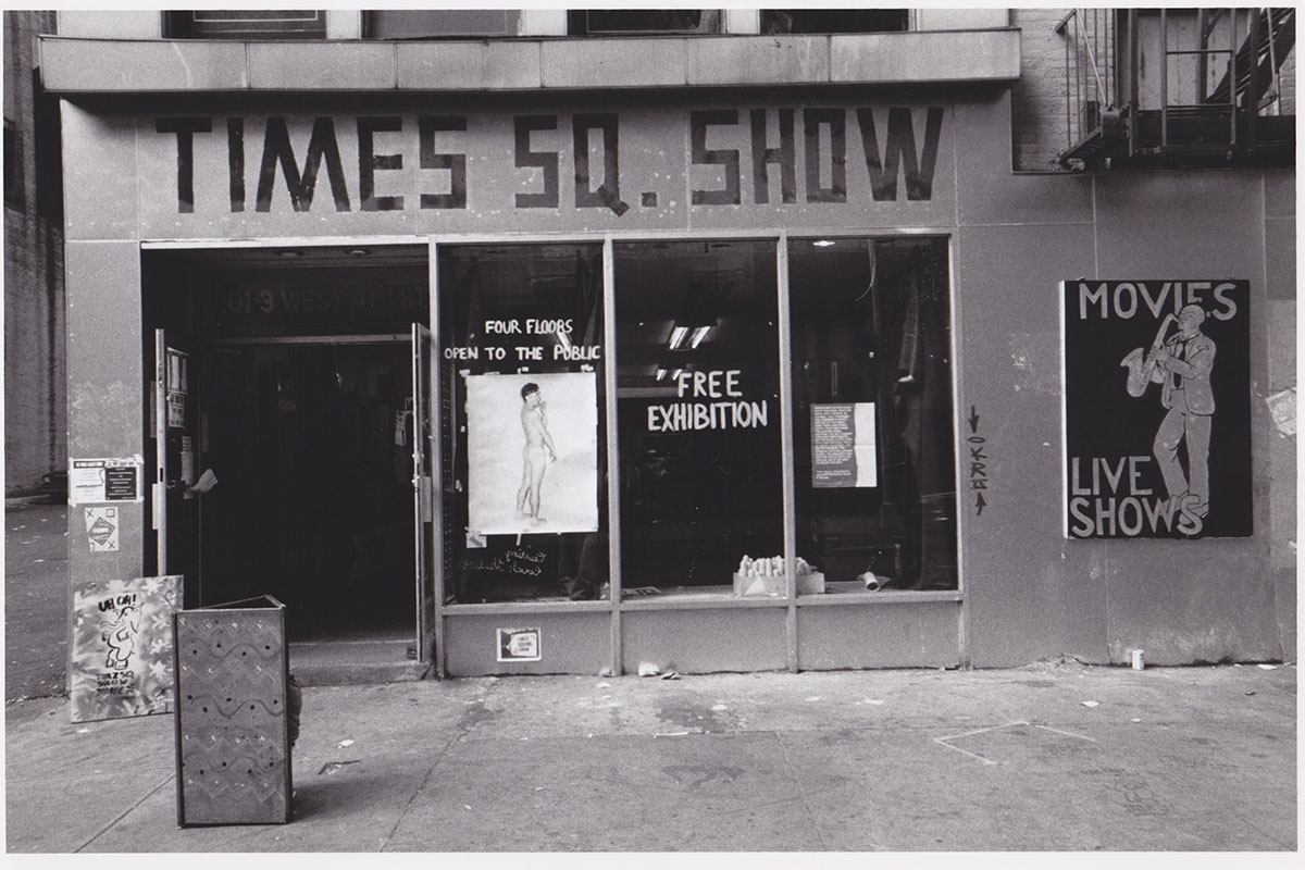 The venue of the Times Square Show, 1980