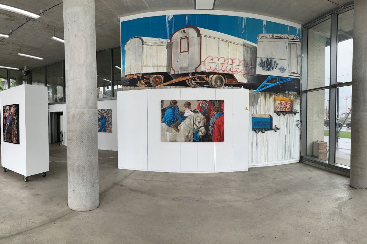 The installation view of Urban Cowboys by Matthias Mross at GCA Gallery