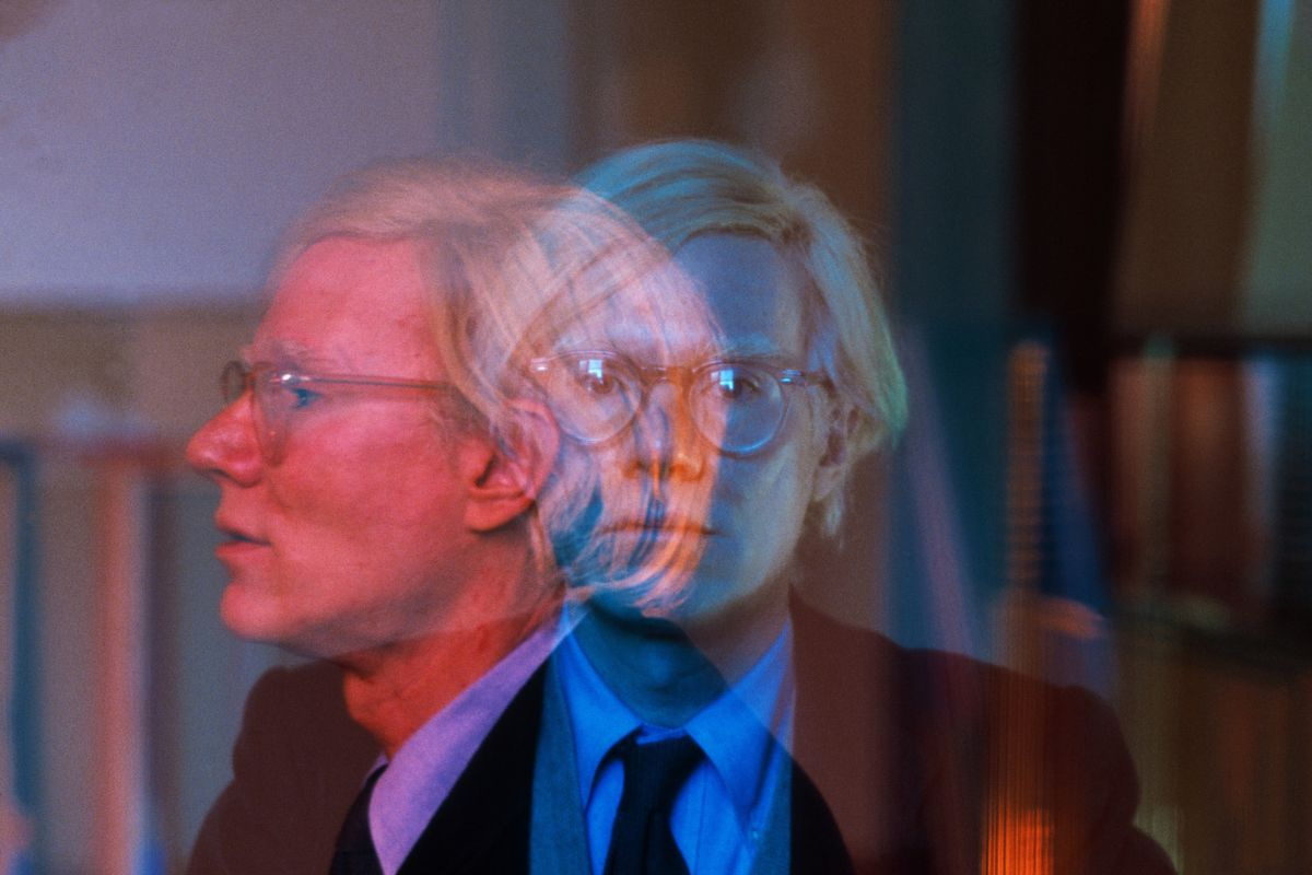 Thomas Hoepker - Double exposure of Andy Warhol in his 22 Factory 22 at Union Square. Manhattan. New York City. USA, 1981