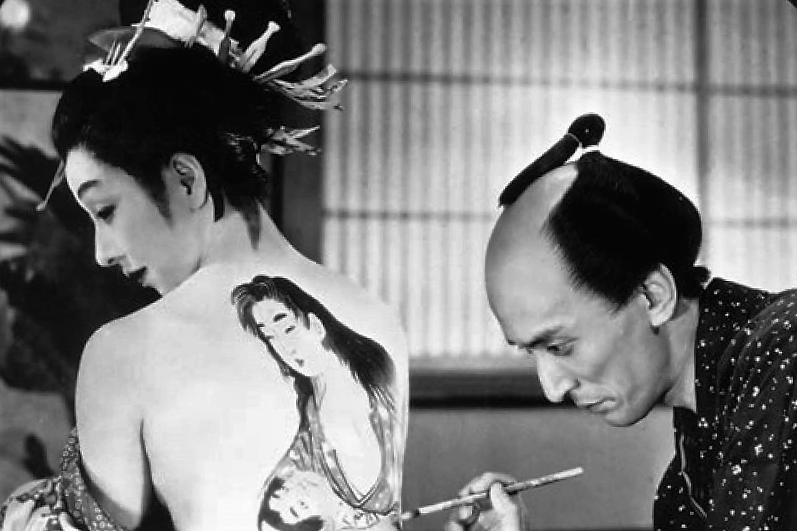 Utamaro and His Five Women, movie still. Image via trigonfilm.org