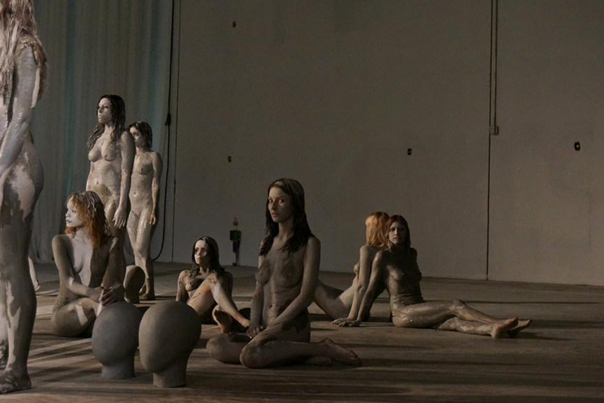 Vanessa-Beecroft-Kanye-West-Flaunt-performance-Art Basel - 2013