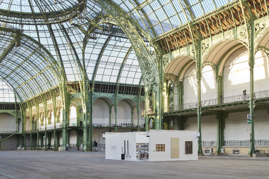 View of theone-day installation Elmgreen & Dragset present Galerie Perrotin at the Grand Palais in Paris on Saturday September 24, 2016