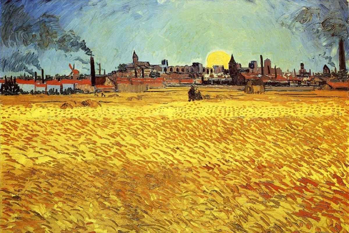 Vincent-van-Gogh---Summer-Evening-Wheatfield-with-Setting-Sun.-Image-via-wallpaper.com