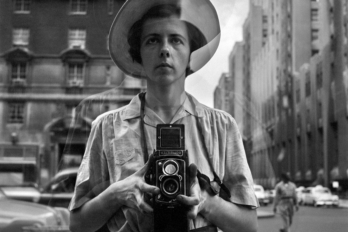 Vivian Maier - Self-portrait, New York City, c. 1950s