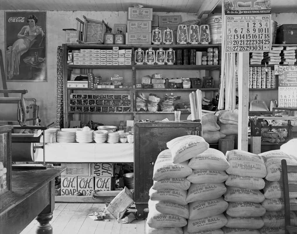 Walker Evans - General store interior. Moundville, Alabama, 1936