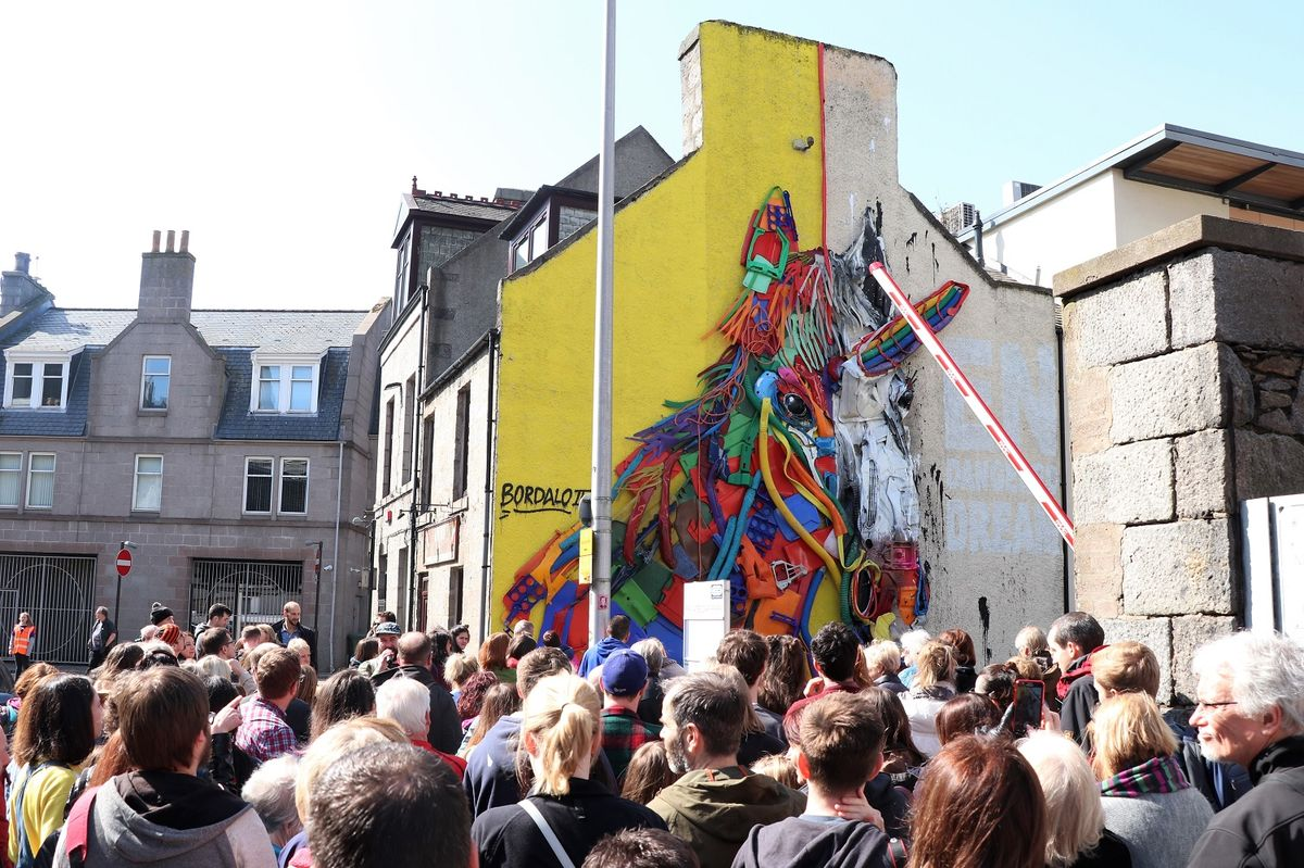 Walking Tour at Nuart Aberdeen 2018 © Emma Walker 1