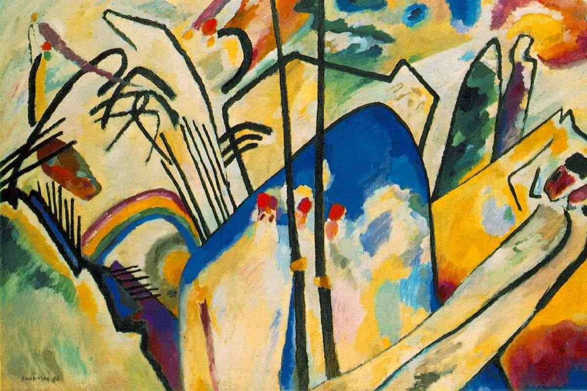 Wassily Kandinsky - Composition IV , detail,  1911 (courtesy of ibiblio.org)