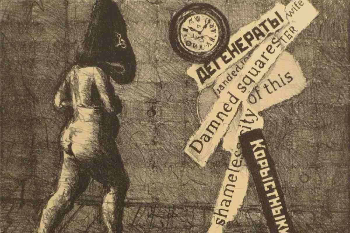 William Kentridge - Damned Squares of this Shameless City, 2009, detail. Image courtesy of Robert Brown Gallery (courtesy of IFPDA Print Fair)