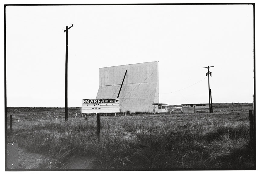 Wim Wenders - Drive-in, Marfa, Texas, 1983